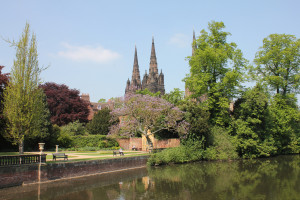 photo of View across Minster Pool to Garden of Remembrance