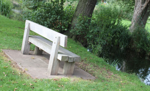 An example of a wooden bench