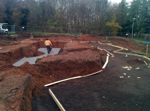 Work is underway on the new skatepark