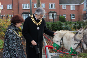 Chairman and his Lady with Snowy the donkey