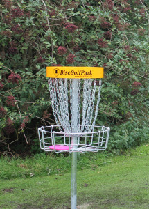 image of disc golf net