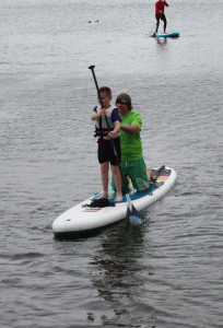 Stand up paddle boarding at Stowe