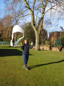 Ruth Piddington - kite making