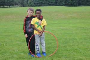 Alex Brown and Andrew Wiltshire aged 8